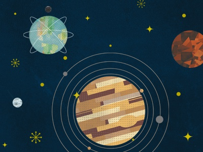 4 days left - Beyond Earth beyondearthproject kickstarter design yellow butterscotch astronomy space retro vintage titan planets planet saturn posters earth poster