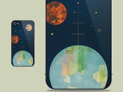 Skin for iPhone 4/4s (bananaskins.ca) beyondearthproject planet iphone earth mars jupiter skin vector