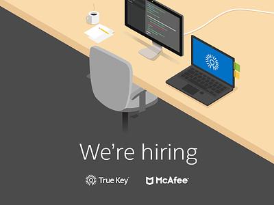 McAfee hiring engineer developer design flat illustration hire