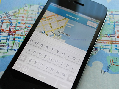 Go on and explore map white ui keyboard visit explore user interface