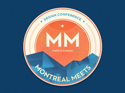 Montreal Meets 2013 montreal montreal meets badge retro sticker vinyl bold canada eh lines illustrator illustration 2013 conference
