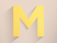 """Daily Letter Project, """"M"""""""