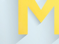 """Daily Letter Project, """"M"""" Blue"""