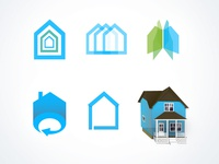 Virtual Tour Real Estate logo concepts & icon art for site