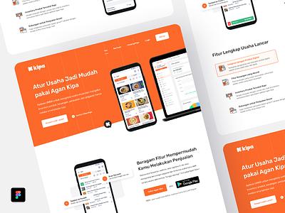 Kipa Landingpage New Concept minimalist landingpagedesign saas website orange webdesign clean corporate landingpage