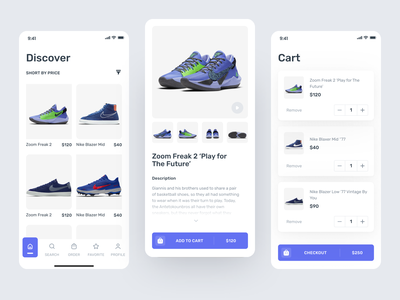 Shoes Ecommerce Mobile App android marketplace android ecommerce android market android design market exploration ecommerce cart product product detail shoes ecommerce shoes marketplace simple ecommerce light ui figma ui clean android app minimalist marketplace ecommerce