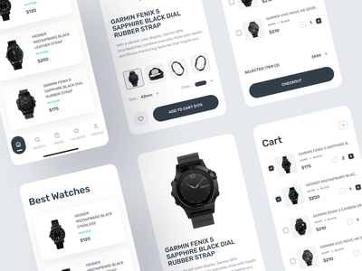Carolina - Simple Ecommerce Mobile Concept minimalist figma ui minimalist online store online store online shop shop design clean store design clean marketplace android app ui clean android ecommerce mobile apps ecommerce minimalist ui watch