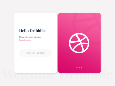 Hello Dribbble ! intro dribbble intro to dribbble welcome first debut debut first image welcome dribbble first shot hello dribbble
