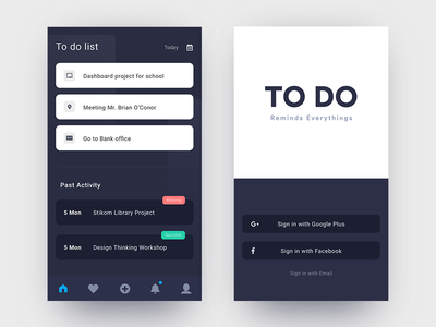 #Exploration |  To Do List App UI minimalist modern clean task manager task list dark theme ui android mobile interfaces list application to do list