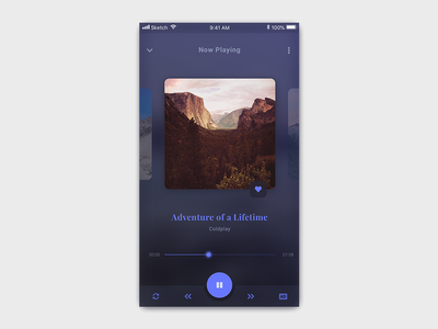 #Exploration | Dark Theme Music Player android app dark theme ui clean music app dark music dark application dark music player music player music