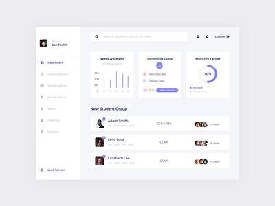 #Project - Online Tutor Dashboard learning platform learning management system learning design adobe xd minimalist clean