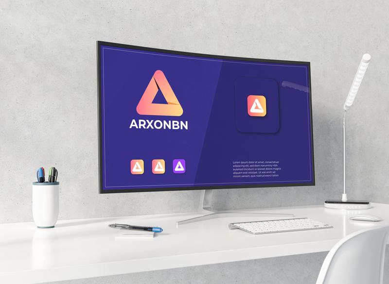 A modern logo mark blue icon minimal lettering logo design branding brand a letter logo modern agency abstract a modern logo logo mark a logo