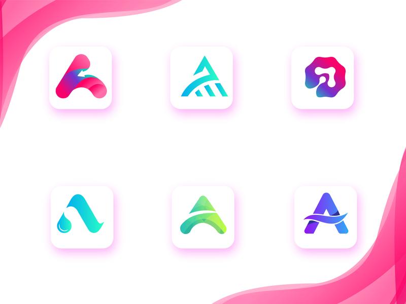 A Modern logo icon mark icon minimal design logo lettering branding brand a logo mark logodesign logos a letter modern a logo modern logo a logo