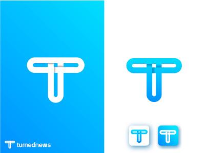 T modern logo colorful news logo app blue icon minimal design lettering brand logo branding t mark logo design company logo technology t modern logo modern logo tech logo t logo