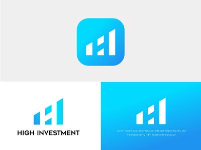 H Logo Investment Logo App minimal design lettering brand branding realestate investment company investment app h icon h monogram h letter logo h mark logo design investment logo h logo logo