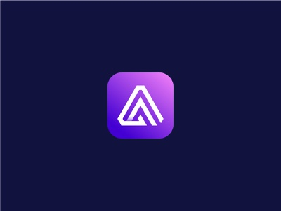 A Modern logo app vector illustration icon minimal design lettering brand logo branding logo idea best logo app best logo best logo designer logo designer business logo company logo modern logo tech logo app logo a logo