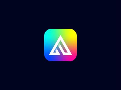 A modern app logo technology brand logo company logo tech logo ui vector illustration icon minimal design lettering brand branding logo modern logo app app icon app logo