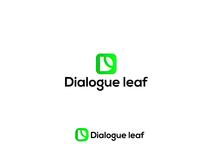 Letter D + Leaf  logo