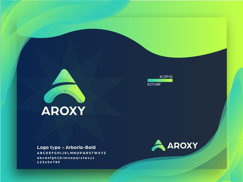 A letter logo a logo design mark a logo identity illustration business card blue minimal icon lettering design branding brand a letter logo
