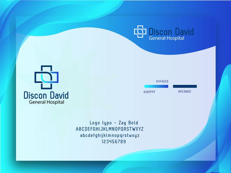 Hospital logo illustrator ui vector identity illustration business card lettering logo design branding brand hospital logo
