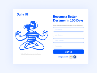 First Task of Daily UI #001 sign up signup ui design uidesign ux ui design dailyui