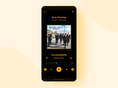 Daily UI #008 - Music Player music app ui design dailyui design