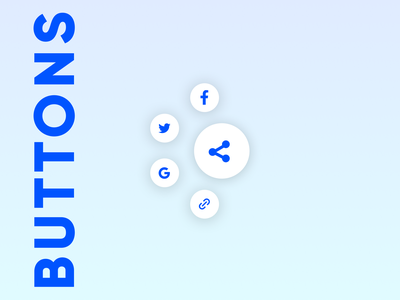 Daily UI 009 - Social Share Buttons icons dailyui design