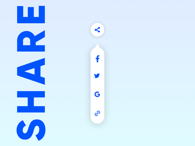 Daily UI 009 - Social Share Buttons icon design dailyui