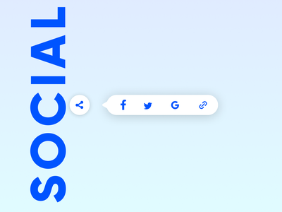 Daily UI 009 - Social Share Buttons icons design design dailyui