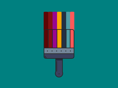 Paintbrush vector design