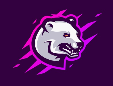 Epicold - Esport logo illustrator illustration vector animal polar bear logo design