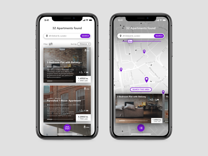 Apartment Finder by Chris Weier on Dribbble