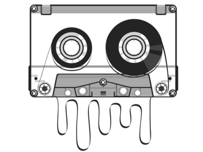 Retro audio cassette vector illustration