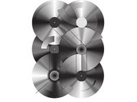 Vinyl records abstract illustration