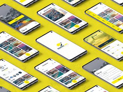 Traventure - A Travel App Concept design inspiration daily ui web designer dribbble ui .trends user interface travel app travel website design ui ux design landing page uiux logo graphic design ui