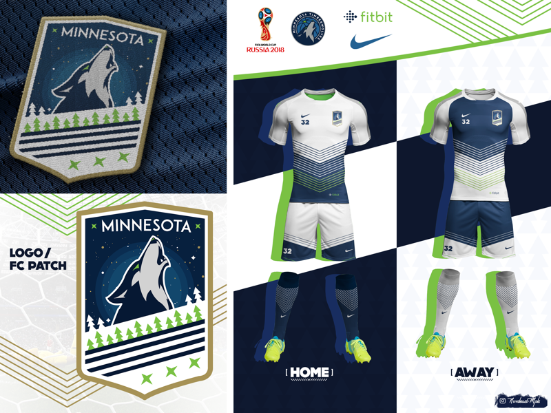 half off 2cd10 1213a Minnesota Timberwolves World Cup Kit by abshir on Dribbble