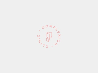 Complexion Clinic brand identity design flower logo graphic beauty branding logo