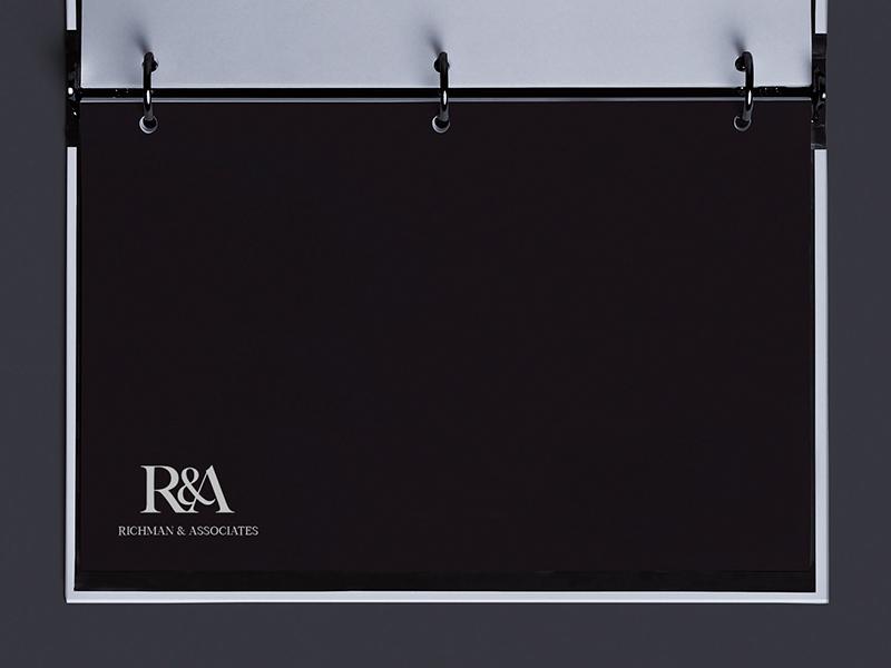 RICHMAN & ASSOCIATES monogram logo graphic desgin logo design graphic brandidentity brand identity design branding logo