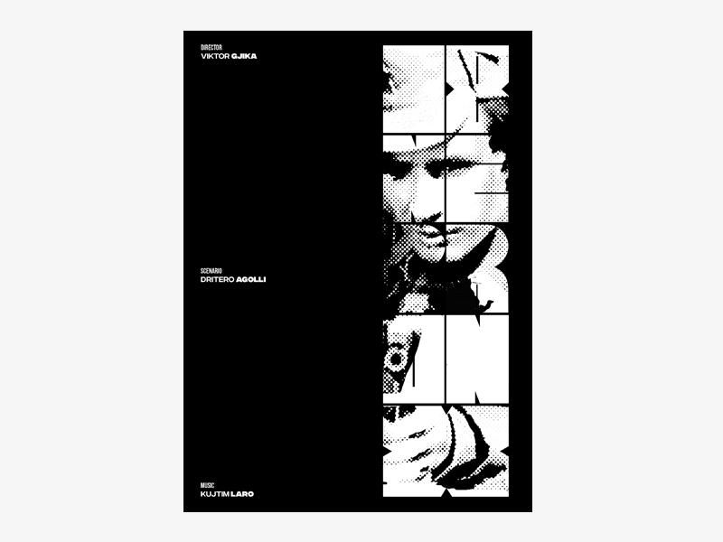 "Albanian Cinematography ""I TETI NE BRONX"" 1970 typography swiss swiss style poster design poster graphic dribbble brandidentity graphic desgin design"