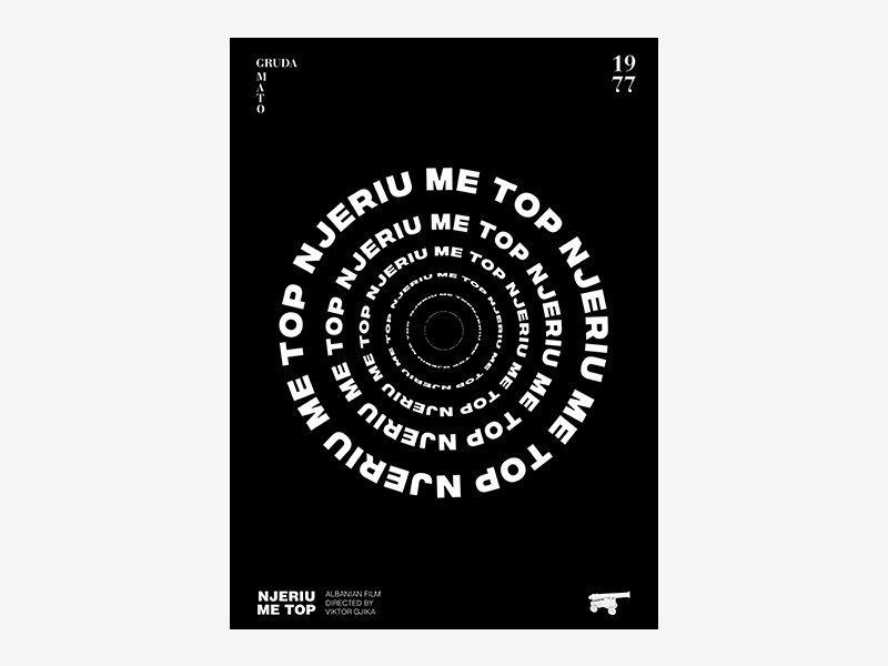 """Albanian Cinematography """"NJERIU ME TOP"""" 1977 swiss design swiss style posters poster design poster a day poster art poster typography dribbble graphic desgin graphic design"""