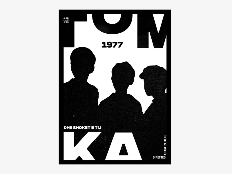 "Albanian Cinematography ""TOMKA DHE SHOKET E TIJ"" 1977 typography poster typography art typographic swiss design swiss style posters swissposter poster a day poster design poster art poster typography dribbble graphic desgin graphic design"