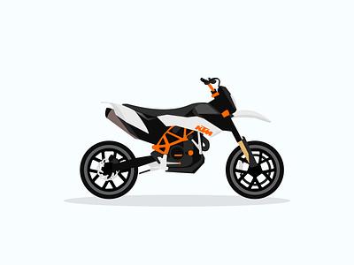 KTM SMC 690 design vector illustration flat supermoto smc ktm motorcycle