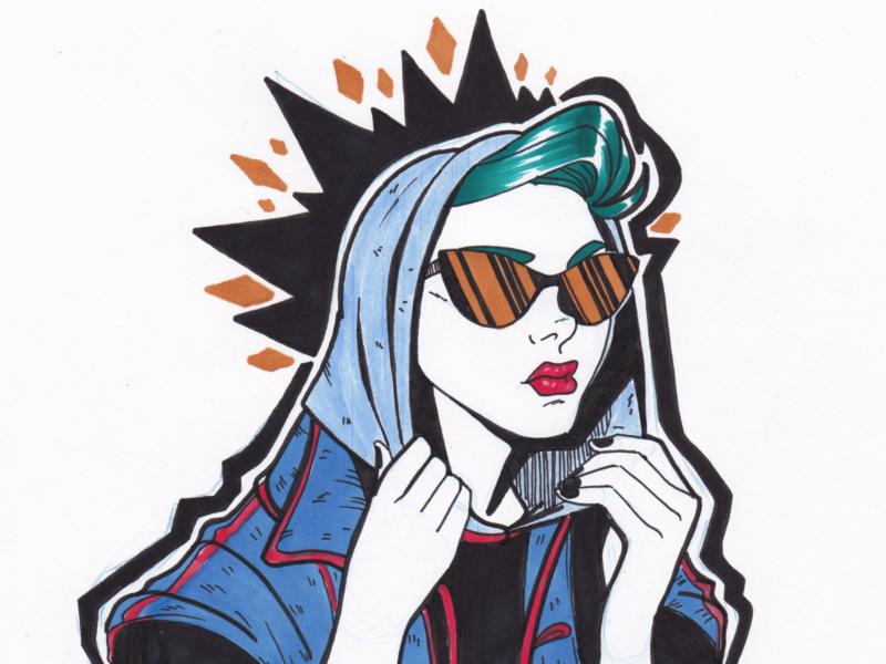 Too Cool for You ink illustration ink drawing design cartoon popart illustration
