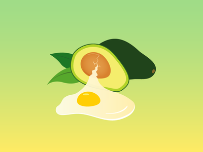 Egg Avocado artwork digital illustration digital art avocado egg vector illustrator illustration illust