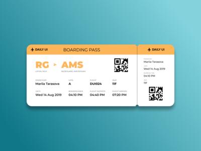 Boarding Pass 024