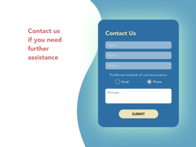 Contact Us daily ui 028