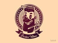 Logo for Barber Alena - barber-girl