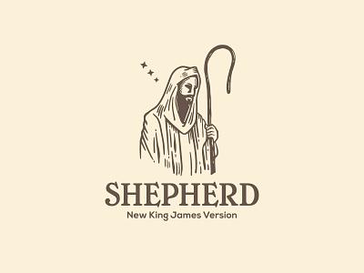 Shepherd logo procreate illustration cane bible leader protector guard guide herdsman herder jesus shepherd