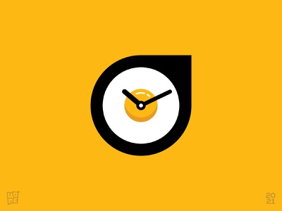 Egg Clock delivery food meeting schedule simple clock app icon time clock egg