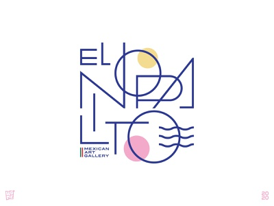 El Nopalito modernism gentle slim thin lineart mexican gallery art gallery modern